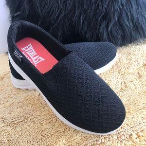 Everlast Black Slip On Sneakers. NWOT